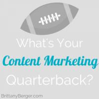 Your Content Marketing Quarterback