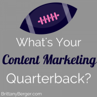 Your Content Marketing Quarterback