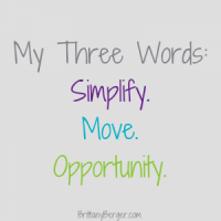My Three Words for 2015