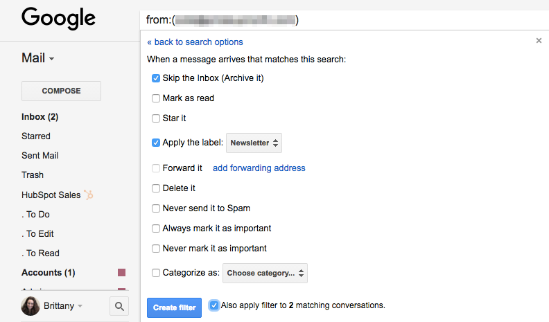 Automate your inbox with Gmail rules and filters