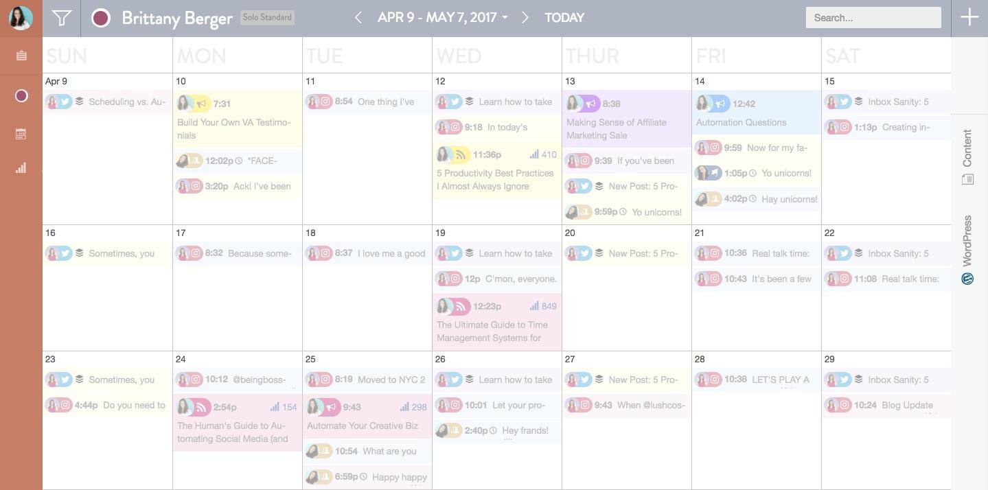 CoSchedule Editorial Calendar Online Business Tools