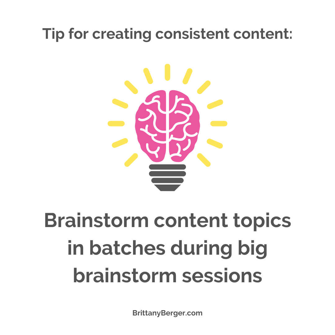 content creation tip - brainstorm content topic in batch brainstorming sessions