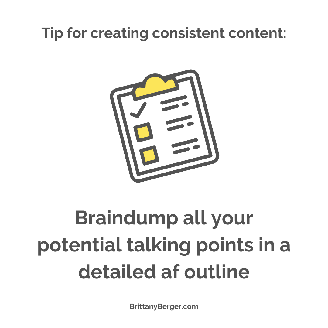 content creation tip - braindump your talking points into an outline before you start to write