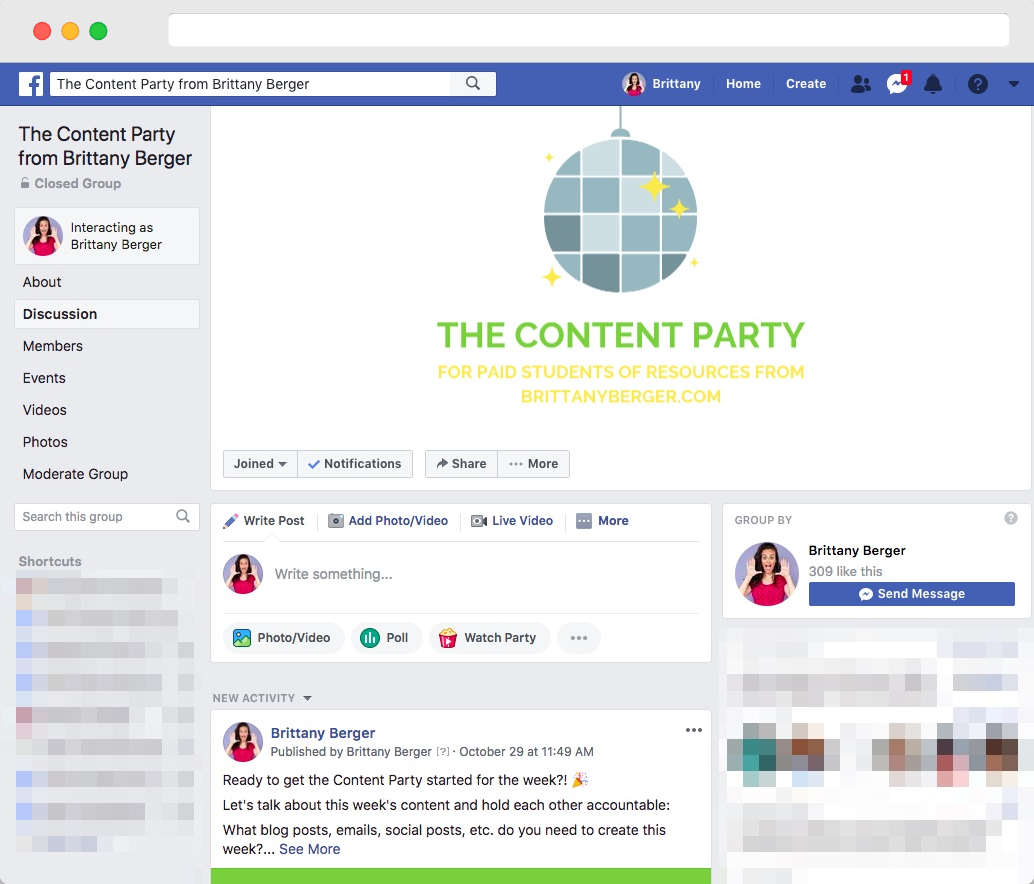 the content party group
