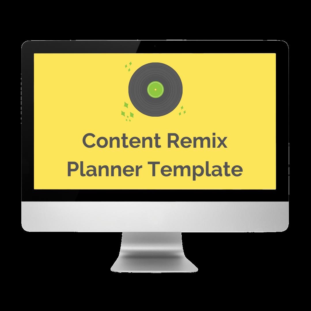 Content Remix Planner Template Promo Shot