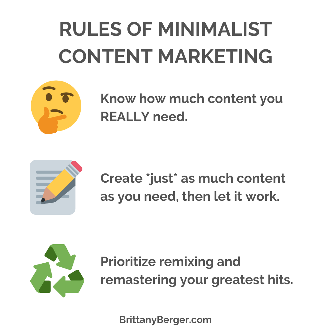 Rules of Minimalist Content Marketing